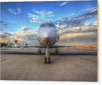 Gulfstream Gx450 At Livermore Klvk With Virga Wood Print