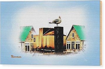 Gull House Wood Print by Sadie Reneau