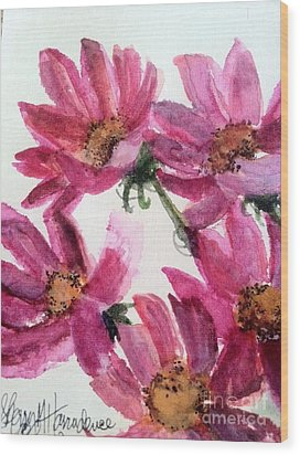 Gull Lake's Flowers Wood Print by Sherry Harradence