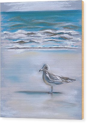 Gull On The Shore Wood Print by MM Anderson