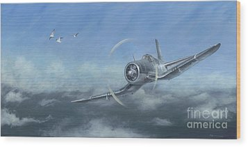 Gull Wings Wood Print
