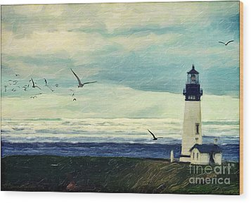 Gulls Way Wood Print by Lianne Schneider