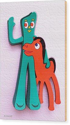 Gumby And Pokey B F F Wood Print