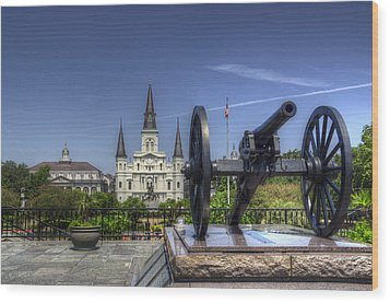 Gun General And God Wood Print by Greg and Chrystal Mimbs