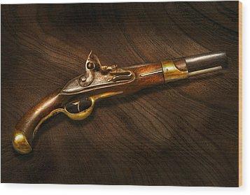 Gun - Pistols At Dawn Wood Print by Mike Savad