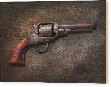 Gun - Police - Dance For Me Wood Print by Mike Savad
