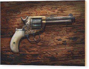 Gun - Police - True Grit Wood Print by Mike Savad