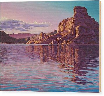 Gunsight Butte Wood Print