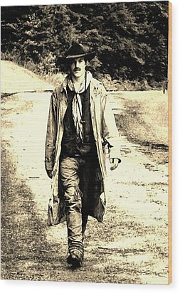 Wood Print featuring the photograph Gunslinger by B Wayne Mullins