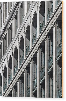 Wood Print featuring the photograph Gwynne Building Exterior by Rob Amend