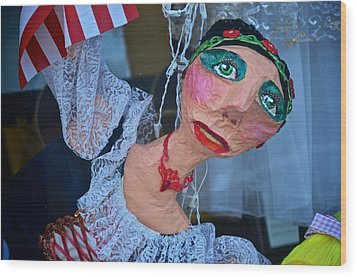 Gypsy Doll Wood Print by Ricardo J Ruiz de Porras