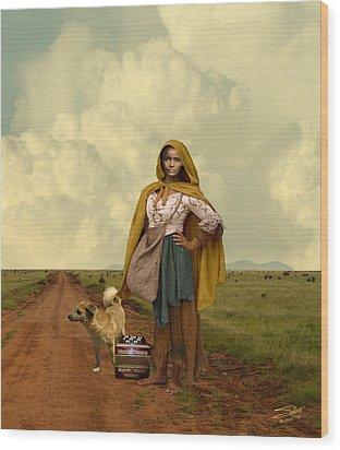 Gypsy Girl's Dream Wood Print by Schwartz