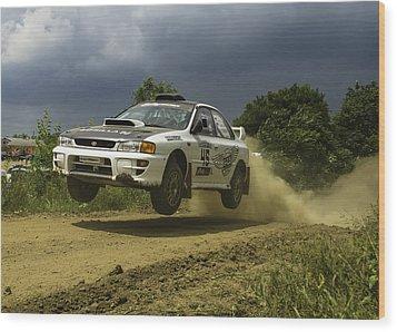 Gzb Rally Team In Flight Wood Print