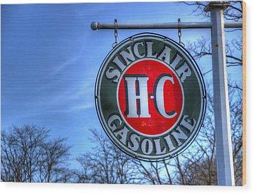 H-c Sinclair Gasoline Wood Print by David Simons
