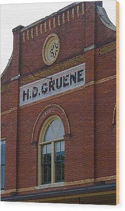 H D Gruene Wood Print