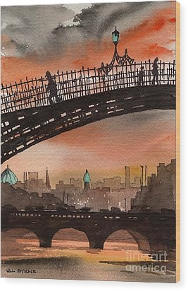 Ha Penny Bridge  Dublin 1 Wood Print