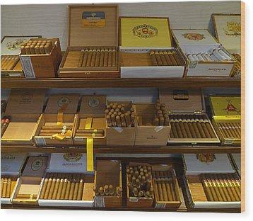 Habanas Cohibas Diplomaticos Wood Print by Ken Brannen