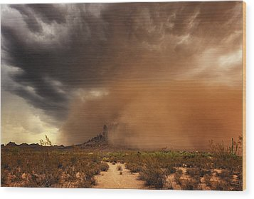 Haboob Is Coming Wood Print