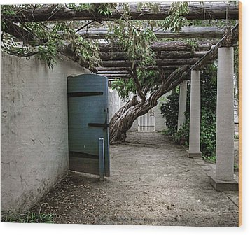 Wood Print featuring the photograph Hacienda Courtyard by Kandy Hurley
