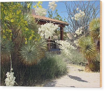 Wood Print featuring the photograph Hacienda by Linda Cox
