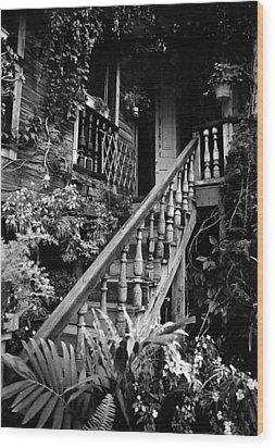Hacienda Stairway Wood Print by Ricardo J Ruiz de Porras