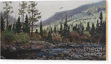 Hagerman Peak Wood Print by W  Scott Fenton
