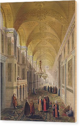 Haghia Sophia, Plate 2 The Narthex Wood Print by Gaspard Fossati