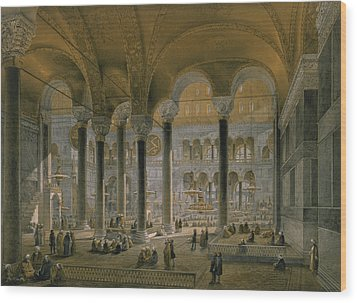 Haghia Sophia, Plate 6 The North Nave Wood Print by Gaspard Fossati