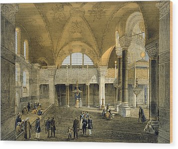 Haghia Sophia, Plate 9 The New Imperial Wood Print by Gaspard Fossati