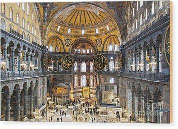 Hagia Sofia Interior 35 Wood Print