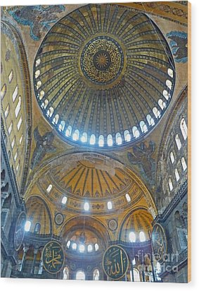 Wood Print featuring the photograph Hagia Sophia 1 - Istanbul by Cheryl Del Toro