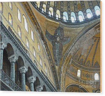 Wood Print featuring the photograph Hagia Sophia 2 - Istanbul by Cheryl Del Toro