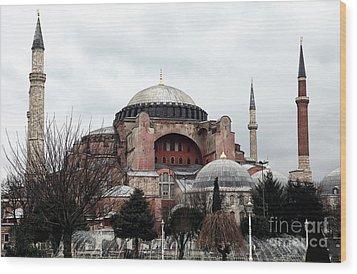 Hagia Sophia Wood Print by John Rizzuto