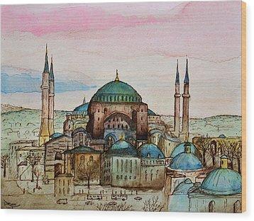 Hagia Sophia Wood Print