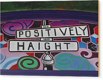 Haight-ashbury Art In San Francisco Wood Print by Carol M Highsmith