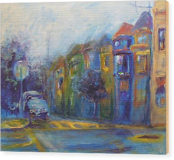 Haight-ashbury Wood Print by Valerie Greene
