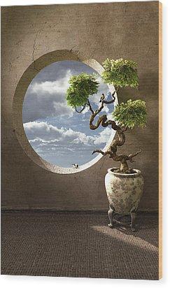 Haiku Wood Print by Cynthia Decker