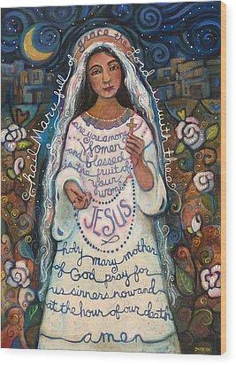 Hail Mary Wood Print