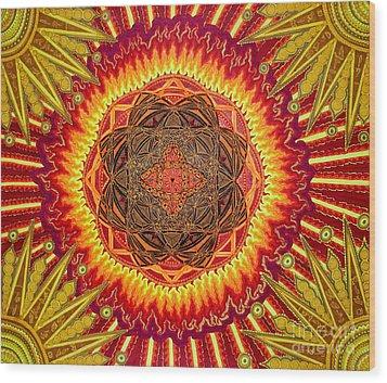 Hail To My African Sun Wood Print