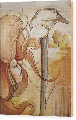 Hair And Thhawke  Wood Print
