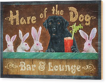 Hair Of The Dog Wood Print by JQ Licensing