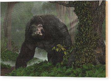 Hairy Beast Wood Print by Daniel Eskridge