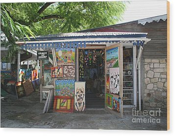 Wood Print featuring the photograph Haitian Art Shack by The Art of Alice Terrill