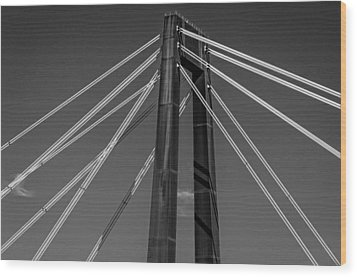 Hale Boggs Memorial Bridge Wood Print by Andy Crawford