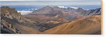Haleakala Crater Hawaii Wood Print by Francesco Emanuele Carucci