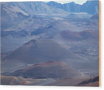 Wood Print featuring the photograph Haleakala Crater by Sheila Byers