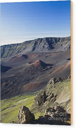 Haleakala Sunrise On The Summit Maui Hawaii - Kalahaku Overlook Wood Print by Sharon Mau