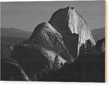 Half Dome At Sunset Wood Print