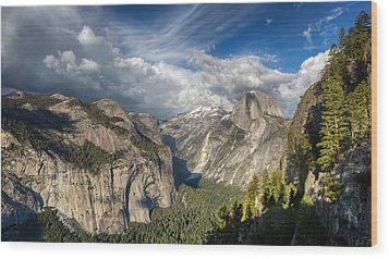 Half Dome From Four Mile Wood Print by Chris Martin