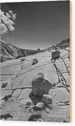 Half Dome From Olmsted Point Wood Print